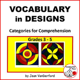 VOCABULARY WORKSHEETS| COLOR GEOMETRIC DESIGNS | Early Finishers | Gr 3-4-5