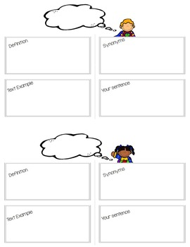 {VOCABULARY} Frayer Model VOCABULARY FRAME -for any grade or subject!