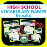 VOCABULARY GAMES High School English Vocabulary Parts of S