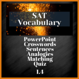 1 WEEK VOCABULARY UNIT - SAT Prep, AP English  (1.4)