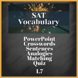 1 WEEK VOCABULARY UNIT - SAT Prep, AP English (1.7)