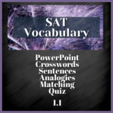 1 WEEK VOCABULARY UNIT - SAT Prep, AP English (1.1)