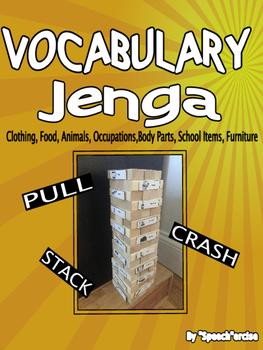 VOCABULARY JENGA- Speech Therapy