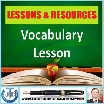 VOCABULARY LESSONS AND RESOURCES: BUNDLE