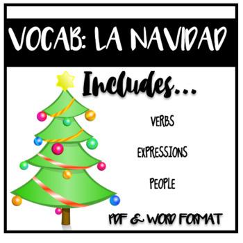 EDITABLE VOCABULARY: La Navidad