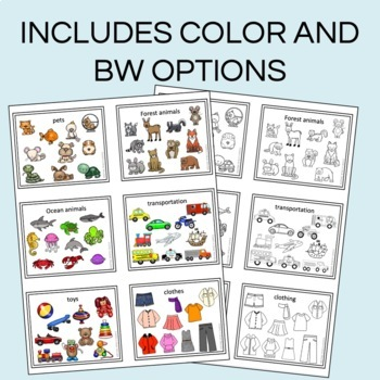 VOCABULARY MINI CARDS -  FOR SPEECH THERAPY