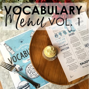 VOCABULARY Menu for Grades 5-10: Volume 1 EDITABLE