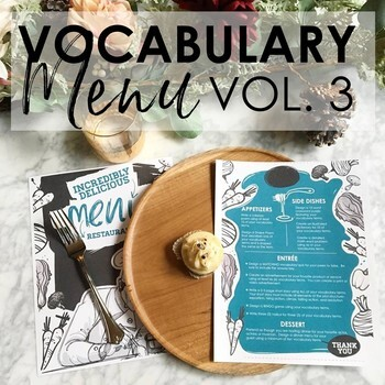 VOCABULARY Menu for Grades 5-12: Differentiated BUNDLE VOLUMES 1-3