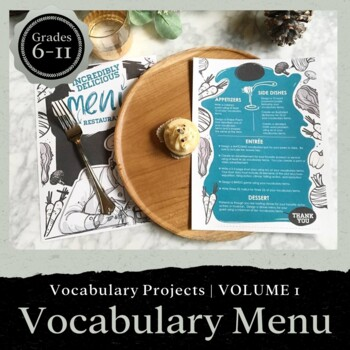 VOCABULARY Menu for Grades 7-12: Volume 3 EDITABLE