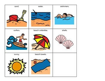 VOCABULARY PACKAGE Ocean & Beach ADAPTED BOOKS, Speech Therapy, Autism