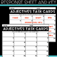 VOCABULARY Task Cards - ADJECTIVES