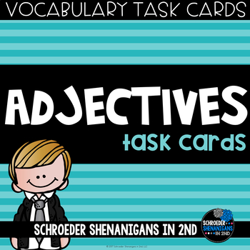 VOCABULARY Task Cards - ADJECTIVES