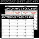 VOCABULARY Task Cards - ANTONYMS