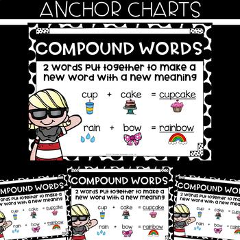 VOCABULARY Task Cards - COMPOUND WORDS