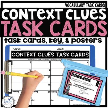 VOCABULARY Task Cards - CONTEXT CLUES