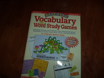 VOCABULARY WORD STUDY GAMES ISBN 0-439-13844-2