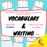 VOCABULARY & WRITING FROM A-Z IN SPANISH//COMPLETE WORKBOOK