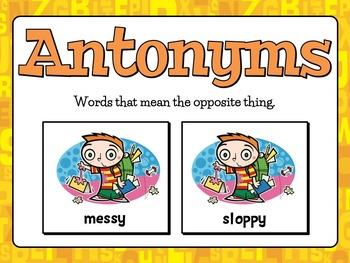ANTONYM, SYNONYM, HOMOPHONE, MULTIPLE MEANING Workstation - English and Spanish