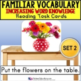 """VOCABULARY and PICTURES Task Cards WORD KNOWLEDGE """"Task Box Filler"""" Autism SET 2"""