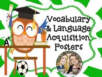 Vocabulary Figurative Language Anchor Charts Owl Themed