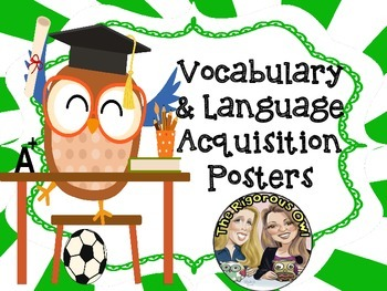 Vocabulary Figurative Language Anchor Charts Owl Themed
