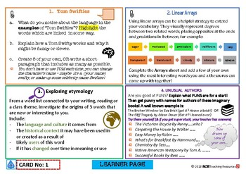 VOCABULOUS - Fab Vocab Enrichment  for highly able learners CARD ONE FREE!