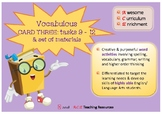 VOCABULOUS - Fab Vocab Enrichment for highly able learners CARD THREE!