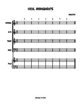 VOCAL ARANGEMENTS WITH PIANO