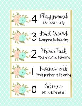 VOICE Posters - Floral Pink/Mint Watercolor Shabby Chic Decor