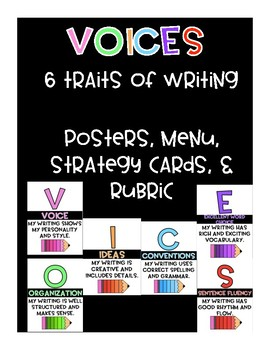 VOICES 6 Traits of Writing Poster Set