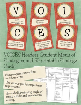 VOICES Headers, Menu, and Strategy Cards