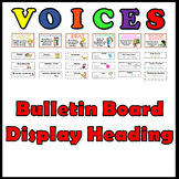 VOICES Writing - Bulletin Board Display Banner