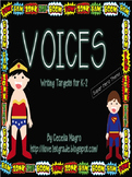 VOICES-Writing Targets for K-2-Superhero