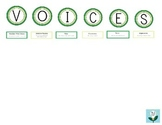 VOICES writing traits strategy headers (green) FREEBIE