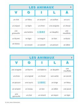 VOILÀ pour LES ANIMAUX (French Animals Bingo)