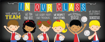 VOLLEYBALL / sports theme - Classroom Decor: LARGE BANNER, In Our Class