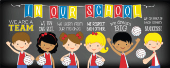 VOLLEYBALL / sports theme - Classroom Decor: LARGE BANNER, In Our School