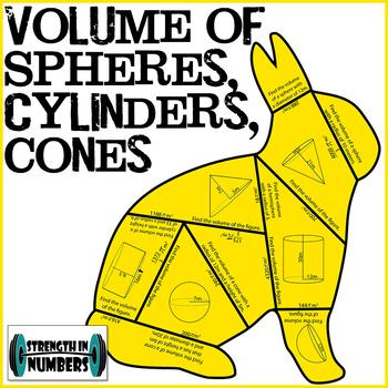 VOLUME Cones Spheres Cylinders Hemispheres Bunny Rabbit Puzzle
