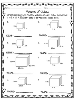 VOLUME OF A CUBE