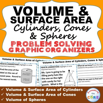 VOLUME and SURFACE AREA CYLINDERS, CONES, SPHERES Word Problems