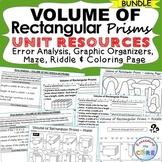 VOLUME OF RECTANGULAR PRISMS BUNDLE Error Analysis, Graphi