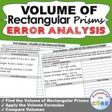 VOLUME OF RECTANGULAR PRISMS  Error Analysis - Find the Error