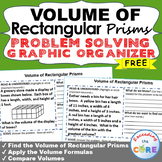 Free VOLUME OF RECTANGULAR PRISMS Word Problems with Graphic Organizers