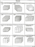 Volume Practice With Higher Order Thinking Skills (20 worksheets)