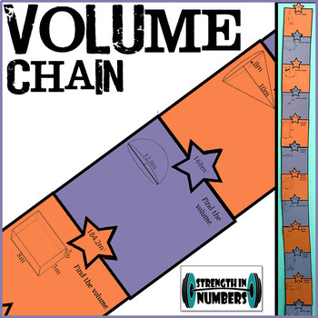 VOLUME Paper Chain - Cones, Cylinders, Spheres, Prisms, Pyramids