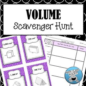 VOLUME - SCAVENGER HUNT! (TASK CARDS)