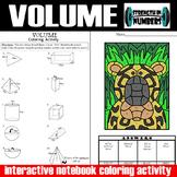 VOLUME Spheres Prisms Pyramids Cones Cylinders INB Coloring Activity