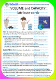VOLUME and CAPACITY Attribute cards