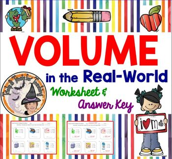VOLUME in the Real World Practice Geometry V=lwh length width height formula