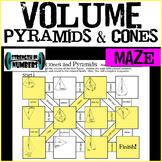 VOLUME of Cones and Pyramids Maze Practice Worksheet